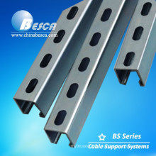 Unistrut Pre Galvanized Steel Slotted C Strut Channel with CE, UL,ISO