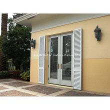 Kundenspezifisches silbernes eloxiertes doppeltes Glas Aluminiumfenster und Türen