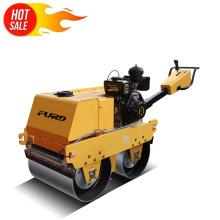 Mini compactador vibrador hidráulico de dos ruedas rodillo de carretera estático FYLJ-S600C