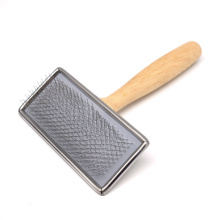 Wood Handle Slicker Brush Pet Products Dogs Pet Supply for Fluffy Fur