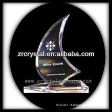 troféu de cristal em branco design atraente X063