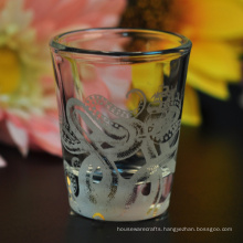 Popular Shot Glass with Frost White Decal Printing
