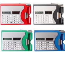 Multifunktionale Kunststoff-Namenskarte Box mit Kugelschreiber Pocket Solar-Rechner