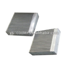 Tornillo de compresor de aluminio placa de aleta intercambiador de calor / industria de aceite hidráulico enfriador