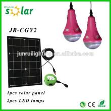 Hecho en china iluminación CE Solar Inicio iluminación LED para interior de casa con 2 bulbos