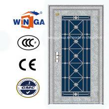 Porte de verre en métal de sécurité en acier inoxydable en Afrique du Sud (W-GH-24)