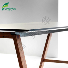 light grey HPL compact laminate round / square conference table top