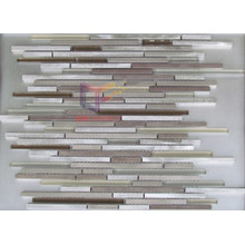 Strip Shape Aluminium Mix Glass Mosaic Tiles (CFA62)