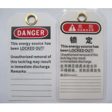 "BOSHI PVC Tag BD-P02 Lockout Label with Warning Signs ""DO NOT OPERATE"""