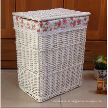 (BC-WB1021) High Quality Handmade Natural Willow Laundry Basket/Gift Basket