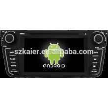 Android System lecteur dvd de voiture pour GEELY EX7 avec GPS, Bluetooth, 3G, ipod, jeux, double zone, contrôle du volant