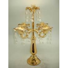 Золотой цвет стекла свеча Holer с пять плакатов для домашнего украшения