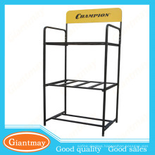 best selling items floor standing standard car battery metal display rack