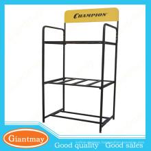 best selling items floor standing standard car battery metal display rack