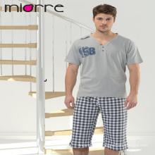 Miorre Hombres pijama% 100 pijama de algodón Capri conjunto