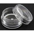 OEM Plastic Transparent Travel Face Cream Cosmetic Jar with Cap