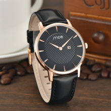 stainless steel case back quartz wrist watch
