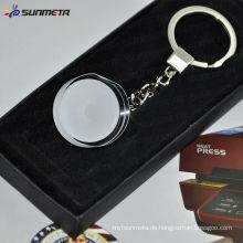 Sunemta Art und Weise Sublimation Kristall keychain Kristallglas keychain