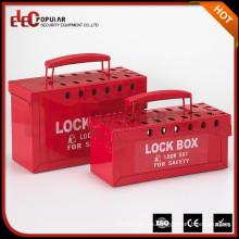 Elecpopular Seguridad Industrial Handy Plastic Combination Candado y llave de bloqueo Caja de bloqueo Kit con mango