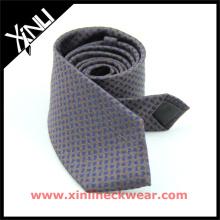 O fio misturado girou o laço de seda de lãs para a gravata de Paisley de lãs dos homens