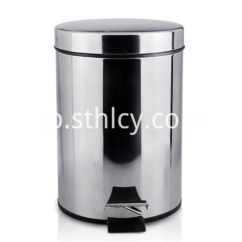 Foot Pedal Stainless Steel Garbage Container
