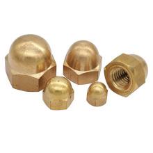 DIN986 brass Acorn hexagon nuts M4 M5 M6 M8