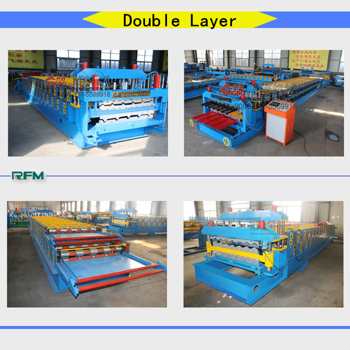 roll forming double deck machine type