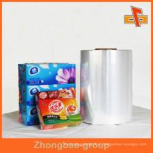 Película de Embalagem de PVC Macia para o Pacote Exterior, Embalagem Externa Feita de PVC Shrink Film