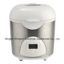 Machine à pain électrique Programmable 2 livres, blanc, noir ou inox