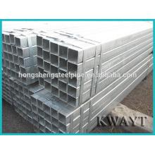 Tuyau carré en acier galvanisé au carbone