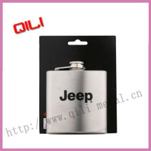 Stainless steel hip flask with silk screen logo
