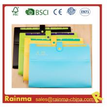 Colorido 8 Pockets File Folder com botão