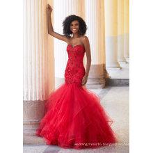 Sweetheart Crystal Mermaid Prom Dress (42117)