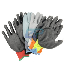 Water Proof Polyester Liner Nitrile Palm Coated Gloves for Construction