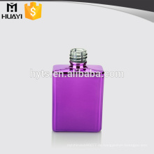 lila farbiges Quadrat leer billig UV Glas Nagellack Flasche