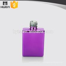 cuadrado de color púrpura vacío barato uv botella de vidrio esmalte de uñas