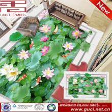 china fabrizierte 3d lotos-druck vitrified porzellanboden und wandfliese
