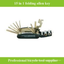 15 em 1 ferramenta de reparação de chaves de bicicleta bicentenária multifunções