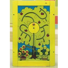 Wooden Pick up Fruit Wall Game Toy for Kids