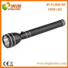 Fuente de la fábrica Mejor 3w poder estilo Cree resistente recargable linterna antorcha luz con Nicd 3C batería