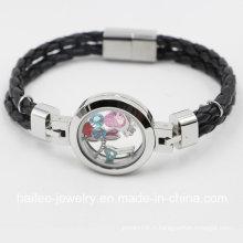 Bracelet à bijoux fantaisie en acier inoxydable à nouvelle arrivée avec Locket