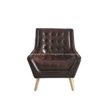 Fauteuil design en cuir confortable