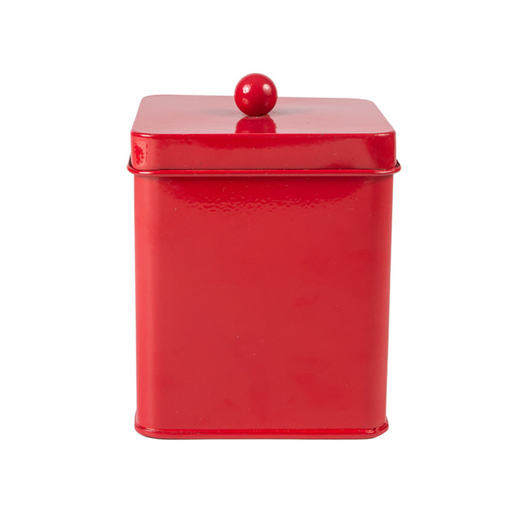 Red Coffee Sugar Canister