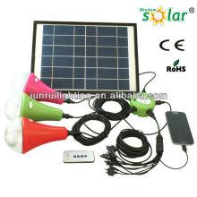 Luces solares del 15W 3 LED bombillas para el hogar, sistema casero solar con cargador de móvil
