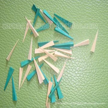 Cunhas dentais descartáveis de madeira