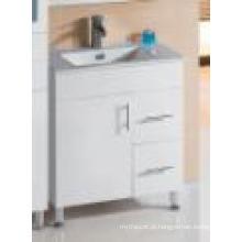 Sanitária Ware Branco Brilhante Hot Vendas MDF Bathroom Vanity (SH27-750WL)