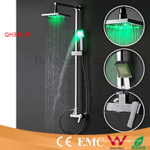 Solid Brass with Divertor Self-Powered LED Rainfall Shower Faucet