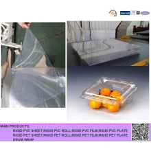 Rigid Clear Pet Sheet Rolls for Plastic Egg Tray