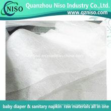 Tecido hidrofílico NW para fraldas para adultos Matérias-primas Topsheet Nonwoven