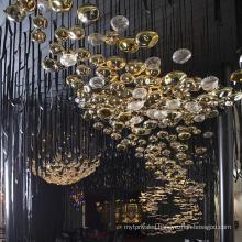Hospitality hotel hall art design blown chandelier light